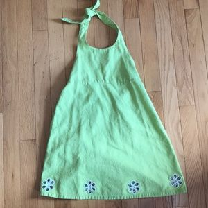 Gymboree Lime Halter Dress Cut Outs Size 7 Easter
